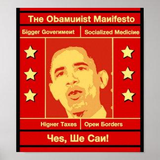 El poster del manifiesto de Obamunist