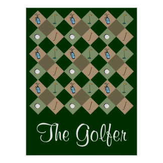 El poster del modelo del golfista
