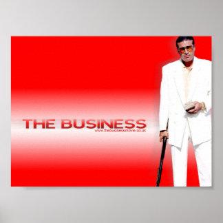 El poster del negocio