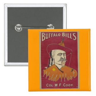 El poster del oeste salvaje 1890 de Buffalo Bill Pin