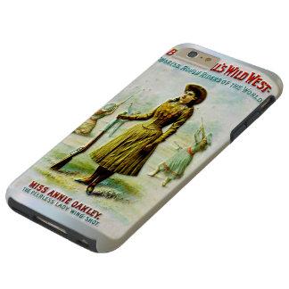 El poster del oeste salvaje Annie Oakley de Funda Resistente iPhone 6 Plus