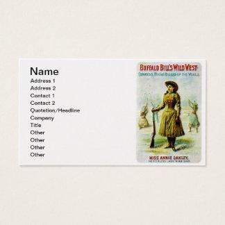 El poster del oeste salvaje Annie Oakley de Tarjetas De Visita