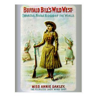 El poster del oeste salvaje Annie Oakley de Tarjetas Postales