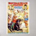 El poster del oeste salvaje de Buffalo Bill