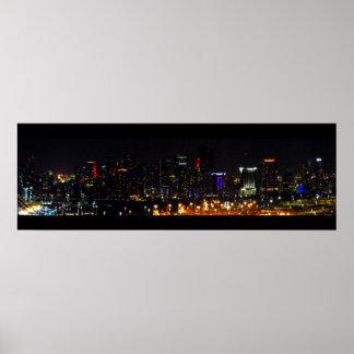 ¡El POSTER del PANORAMA de Skyline~ del ~Miami, LO