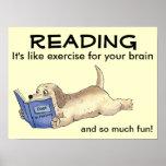 El poster del perro de la lectura