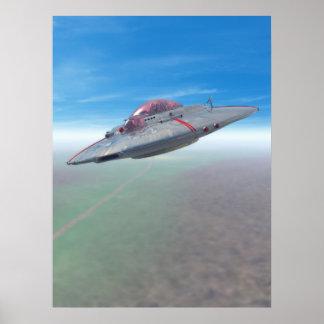 El poster del platillo volante