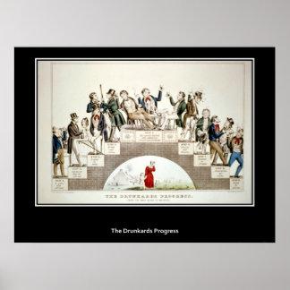 El poster del progreso de los borrachines