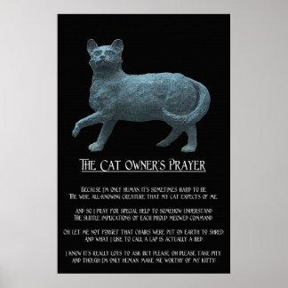 El poster del rezo 36 x 24 del dueño del gato