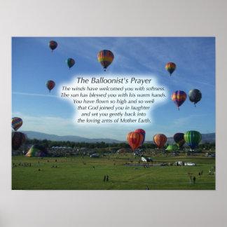 El poster del rezo del Balloonist