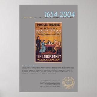 El poster del teatro de la familia del rabino