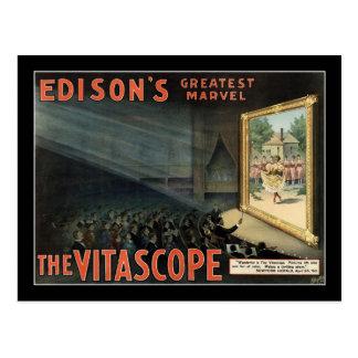 El poster del teatro del vintage de Vitascope Postal