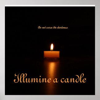 El poster del valor Papel-Illumine una vela