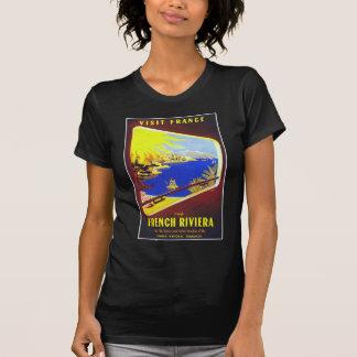 El poster del viaje del vintage de riviera frances camiseta
