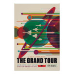 El poster del viaje espacial del viaje magnífico