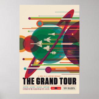 El poster del viaje espacial del viaje magnífico póster