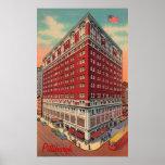 El poster del vintage del hotel de Roosevelt