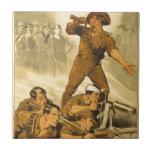 El poster del vintage WW1 de las llamadas de tromp Azulejo Ceramica