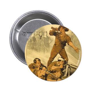 El poster del vintage WW1 de las llamadas de tromp Pin