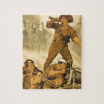 El poster del vintage WW1 de las llamadas de tromp Rompecabeza Con Fotos
