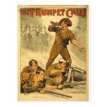 El poster del vintage WW1 de las llamadas de tromp Postales