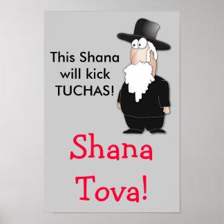 El poster divertido del tova de Shana saluda