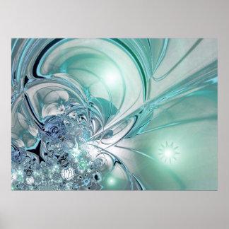 El poster dos del arte abstracto entonó el vidrio