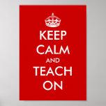 El poster educativo el   guarda calma y la enseña