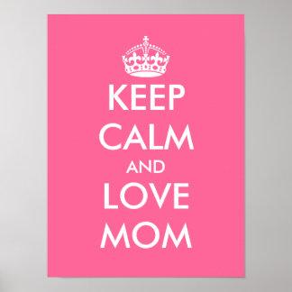 El poster el | del día de madre guarda calma y ama