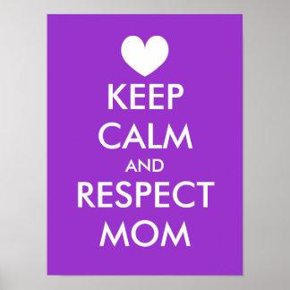 El poster el | del día de madres guarda calma y re