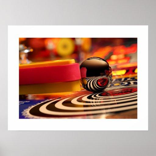 El poster espiral del pinball