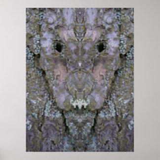 El poster extranjero de la corteza de árbol
