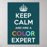 El poster guarda calma y contrata a un experto del