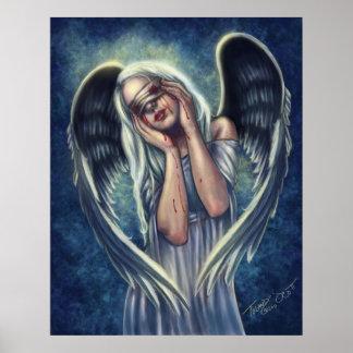 El poster herido del ángel