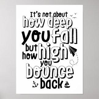 El poster inspirado de la cita de la vida despide
