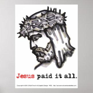 El poster Jesús lo pagó todo (salvador 4) Póster
