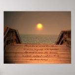 El poster/la impresión de la cita del mar