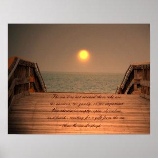 El poster la impresión de la cita del mar