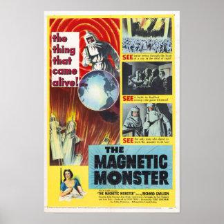 El poster magnético del monstruo