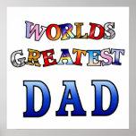 El poster más grande 20x20 del papá de los mundos