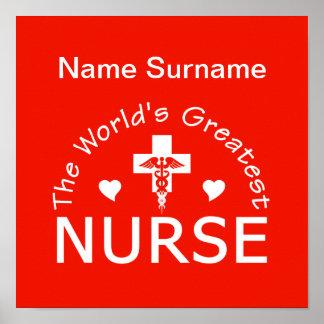 ¡El poster más grande de la enfermera,