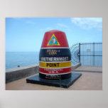 El poster más situado más al sur de Key West la Fl