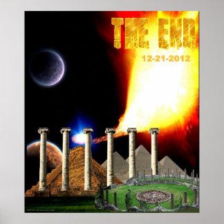 El poster maya del calendario del extremo póster
