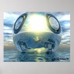 El poster metálico líquido de la esfera