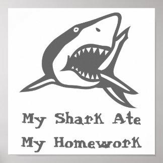 El poster mi tiburón comió mi preparación póster