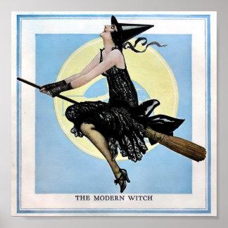 El poster moderno de la bruja