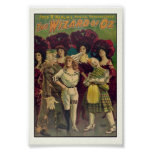 El poster musical 1903 del vintage de mago de Oz