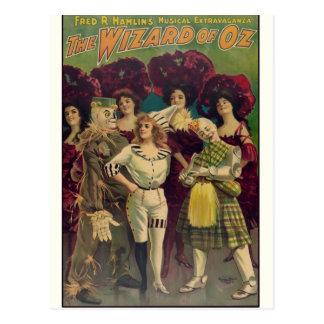 El poster musical 1903 del vintage de mago de Oz Tarjeta Postal