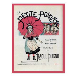 El poster musical de los niños franceses del vinta tarjetas postales