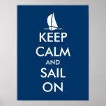El poster náutico con la nave el | guarda calma y